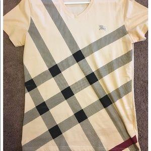 Burberry Men's Medium V Neck Shirt